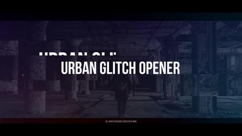 Urban Glitch Opener Premiere Proテンプレート