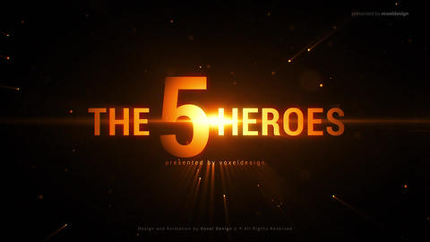 The Five Heroes Cinematic Title After Effectsテンプレート
