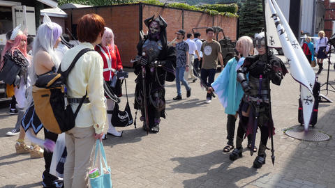 Cosplay Anime Manga Fans At Festival In Hakodate Japan Asia Live Action