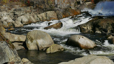 Rocky River background with autumn colors GIF