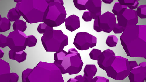 Background of Dodecahedrons Videos animados