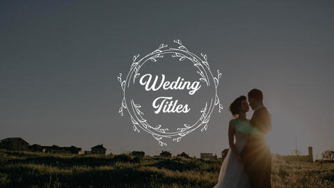 Wedding Titles Motion Graphics Template