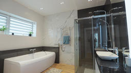 Home interior. bathroom in modern apartment GIF