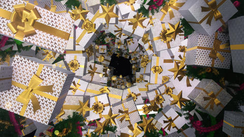 Christmas Gift Box Style Art Deco 01 CG動画