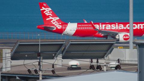 AirAsia Airbus A320 taxiing Archivo