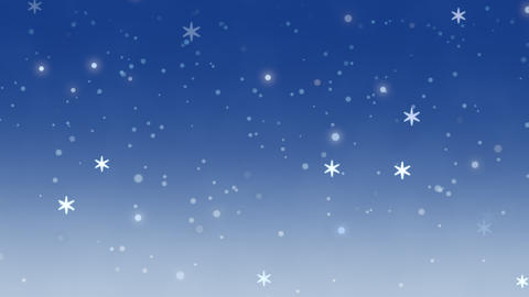 White snowflakes, stars and abstract bokeh particles falling. Happy New Year and Merry Christmas Videos animados