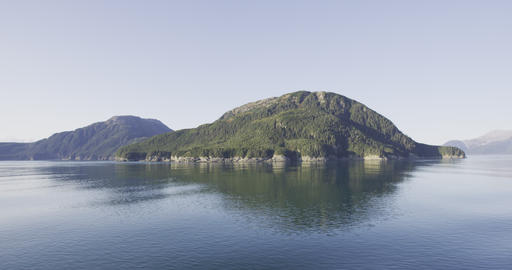 Alaska Nature Landscape - Inside passage seen from cruise ship travel adventure Archivo