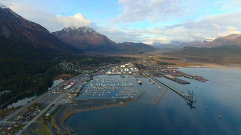 Boat harbor in Alaska Live Action