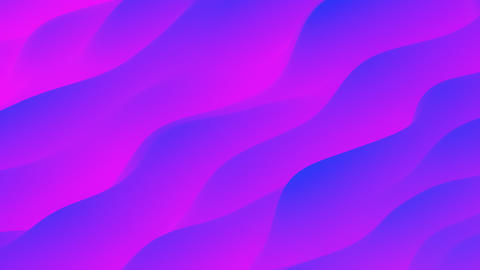 Blue and Purple Gradient Fluid Abstract Waves CG動画