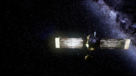 Global Surveyor orbiting Mars planet GIF