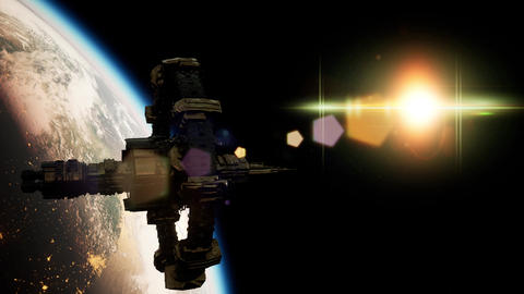 International Space Station over the planet Earth ビデオ
