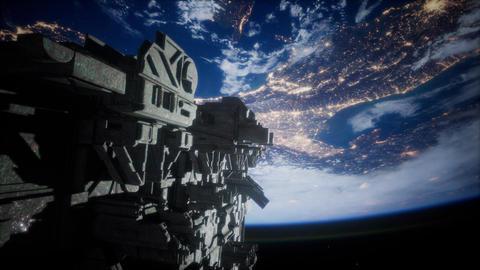 Alien UFO near Earth ビデオ