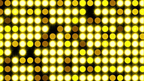 Computer generated bright flood lights background with round particles and gold ビデオ