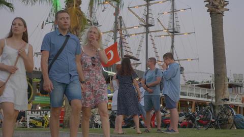 Marmaris, Turkey - September 23, 2019: tourist people... 動画素材, ムービー映像素材