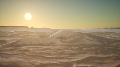 Red Sand Desert Dunes at Sunset ビデオ
