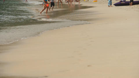 Barefoot beach walking GIF