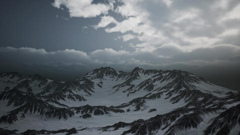High Altitude Peaks and Clouds ビデオ