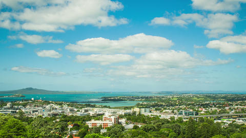 Time Lapse - Ariel View of Downtown Auckland, New Zealand Footage