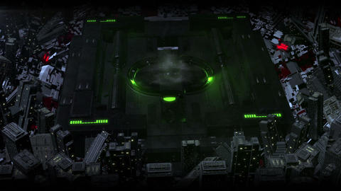 Green Sci Fi High Tech Dark City Logo (prerender) After Effects Template