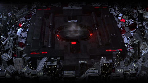 Red Sci Fi High Tech Dark City Logo (prerender) After Effects Template