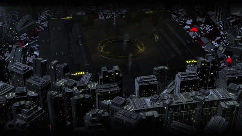 Yellow Sci Fi High Tech Dark City Logo (prerender) After Effects Template
