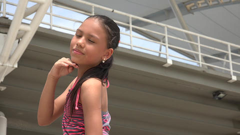 Child Making Modeling Poses Footage
