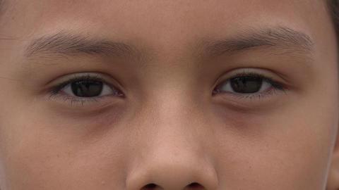 Closeup of Girl's Eyes Footage