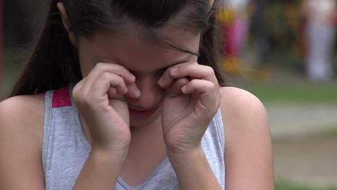 Sad and Crying Young Girl Live Action