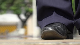 Man's Feet Dancing Salsa Stock Video Footage