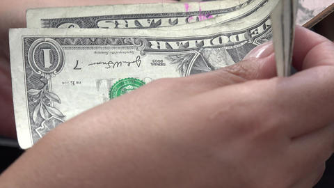 Woman Holding Dollar Bills Footage