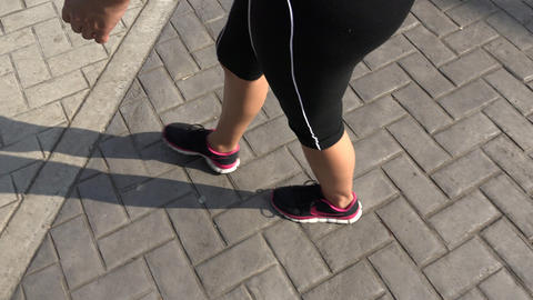 Woman Walking on Path Footage