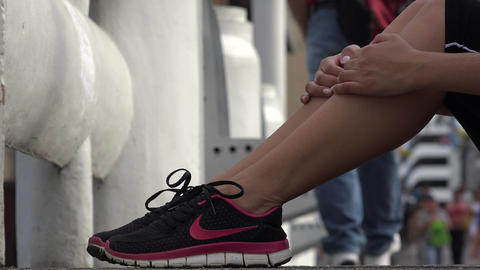 Fit Female Jogger Relaxing Footage