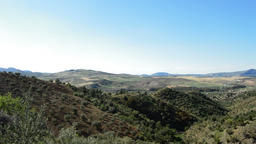 Mediterranean landscape with wind turbines renewable energy Footage