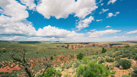Time Lapse - Beautiful Clouds Moving Over Canyon Footage