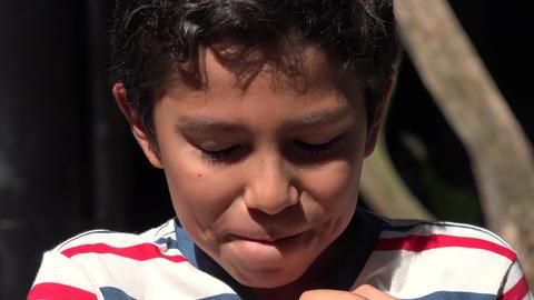 Smiling Young Hispanic Boy Footage