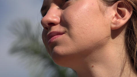 Woman on Sunny Day Footage