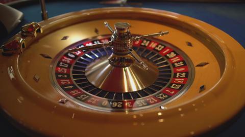 Roulette wheel in a casino Footage