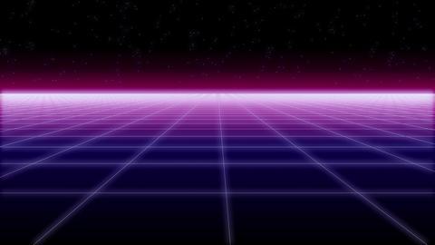 synthwave net horizontal Retro Background 3d ビデオ
