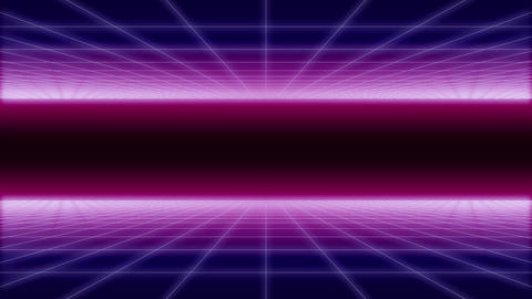 synthwave net and 2 sides Retro Background 3d ビデオ