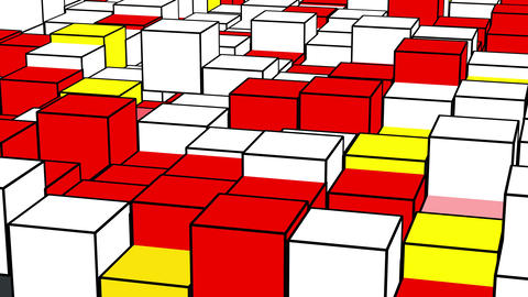 Cube Piet Mondrian Animation