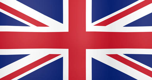 Waving Flag of United Kingdom Looping Background Live Action