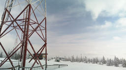 Telecommunication towers include of radio microwave and television antenna ビデオ