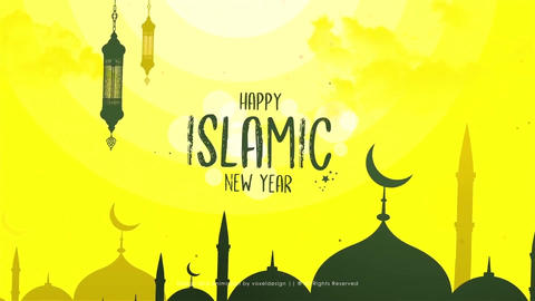Islamic New Year Opener Plantilla de After Effects