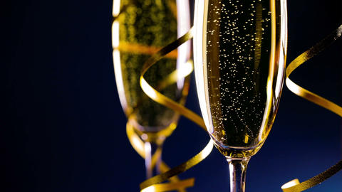 Two glasses of champagne Archivo