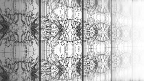 Biomechanical Graphic Backgrounds 1 - Wall Stock Video Footage