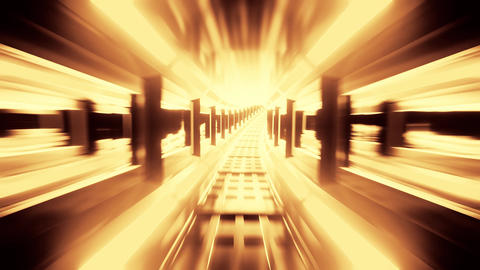 glowing tunnel corridor 3d illustration motion background live wallpaper, dying Animation