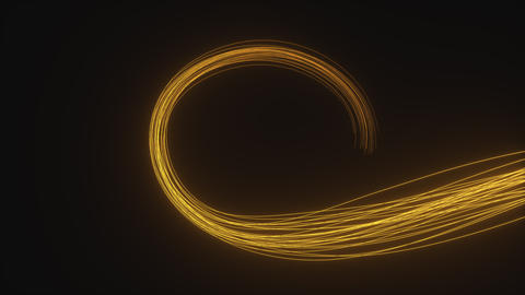 Two animations of the golden trails on black background Animation