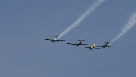 Sport planes performance group aerobatic flight GIF