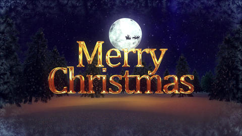 Golden Christmas Logo After Effects Template
