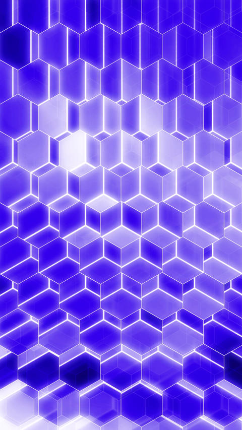 Colorful Winking Hexagons - Vertical 11 Animation